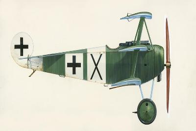 Fokker Dr 1 Triplane-English School-Giclee Print