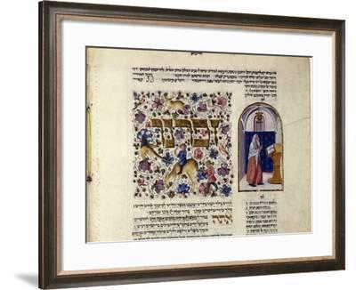 Fol.123V (Detail) from 'The Rothschild Miscellany', Northern Italy, C.1450-80--Framed Giclee Print