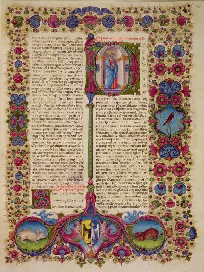 Fol.231R First Letter from St. Peter to the Apostles, from the Borso D'Este Bible. Vol 2 (Vellum)-Italian-Giclee Print