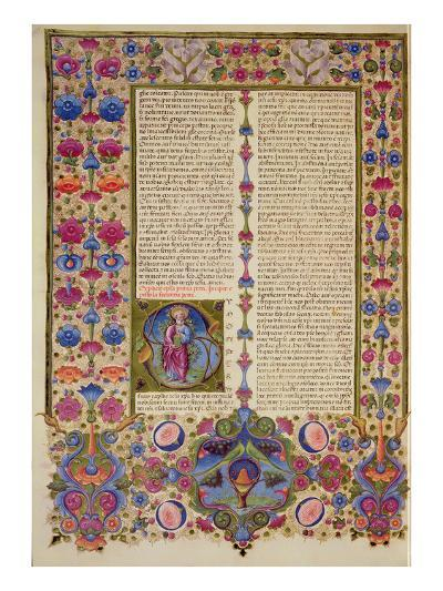Fol.232V Second Letter from St. Paul to the Apostles, from the Borso D'Este Bible. Vol 2 (Vellum)-Italian-Giclee Print
