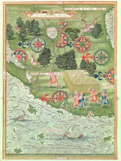 Fol.54V Map of Florida, from 'Cosmographie Universelle', 1555-Guillaume Le Testu-Giclee Print