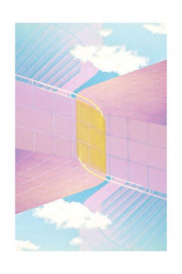 Folded Architecture 20-David Jordan Williams-Premium Giclee Print