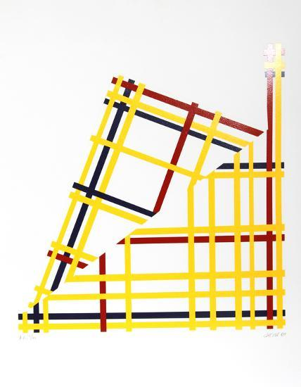 Folded NYC- Jacobs-Serigraph