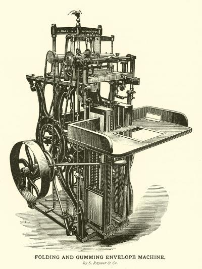 Folding and Gumming Envelope Machine, by S Raynor and Company--Giclee Print
