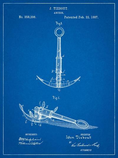 Folding Grapnel Anchor Patent-Cole Borders-Art Print