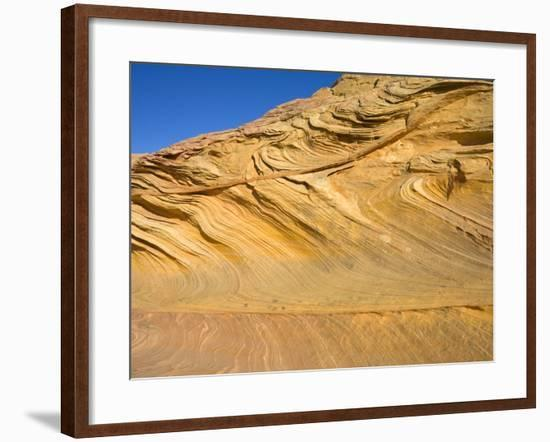Folds and Layers of Sandstone Wall-John Eastcott & Yva Momatiuk-Framed Photographic Print
