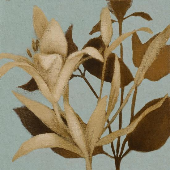 Foliage on Teal II-Lanie Loreth-Premium Giclee Print