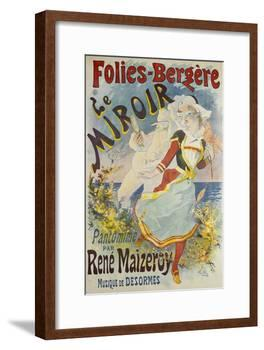 Folies Bergere, Le Miroir-Jules Chéret-Framed Giclee Print
