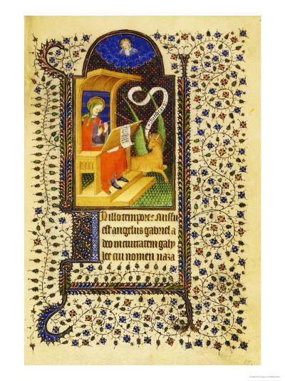 Folio 15 Recto, St. Luke Sharpening His Pen--Giclee Print