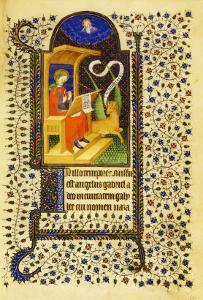 Folio 15 Recto, St. Luke Sharpening His Pen