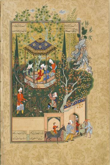 Folio from Haft Awrang (Seven Throne) by Jami, 1550S--Giclee Print