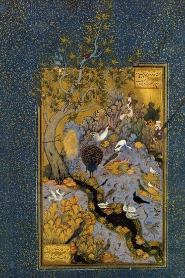 Folio from Mantiq Al-Tayr (The Language of the Bird), by Attar, C1600-Habib Allah-Giclee Print