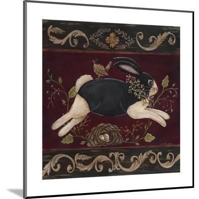 Folk Bunny I-Jo Moulton-Mounted Print