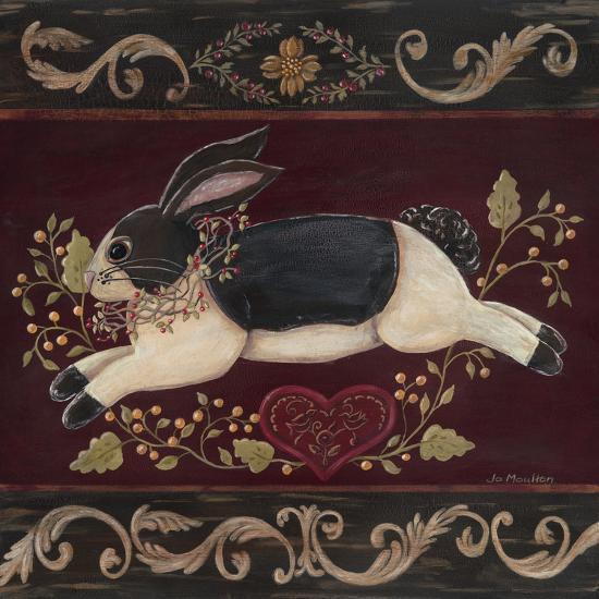 Folk Bunny II-Jo Moulton-Art Print