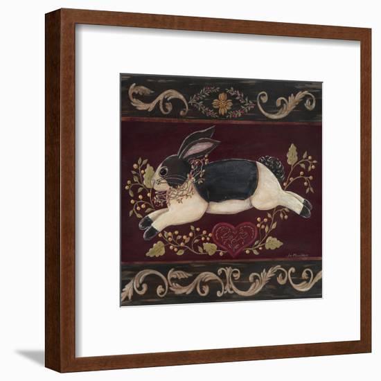 Folk Bunny II-Jo Moulton-Framed Art Print