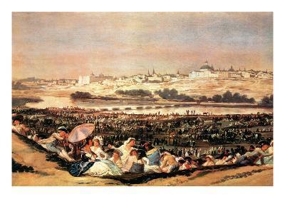 Folk Festival at the San Isidro-Day-Francisco de Goya-Art Print