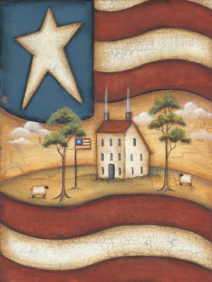 Folk Flag-Kim Lewis-Art Print