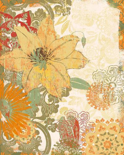 Folk Flower I-Ken Hurd-Giclee Print