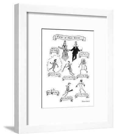 Folk o' the Wee - New Yorker Cartoon-Danny Shanahan-Framed Premium Giclee Print