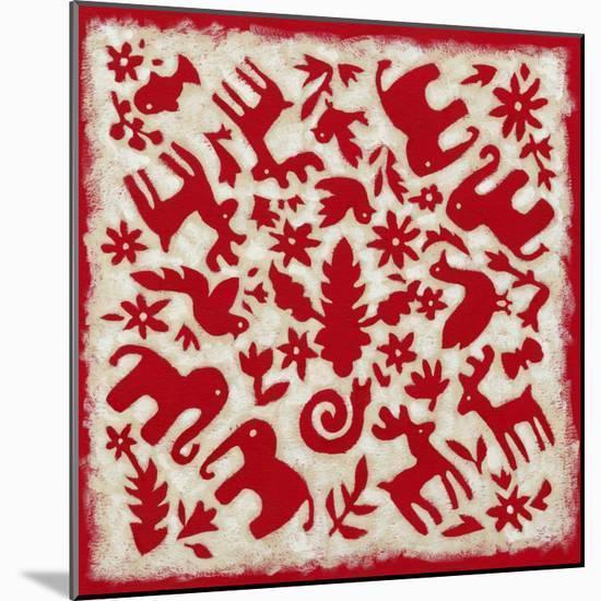 Folk Story in Red-Chariklia Zarris-Mounted Premium Giclee Print