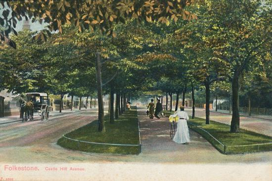 'Folkestone. Castle Hill Avenue', late 19th-early 20th century-Unknown-Giclee Print