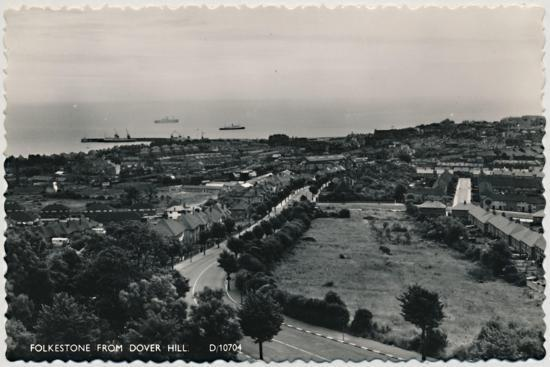 'Folkestone from Dover Hill', late 19th-early 20th century-Unknown-Giclee Print