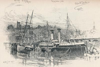 Folkestone Harbour, 1896, (1898)-Edward William Charlton-Giclee Print