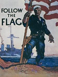 Follow the Flag, US Navy Recruitment Poster