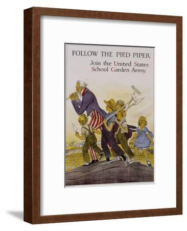 Follow the Pied Piper United States School Garden Poster