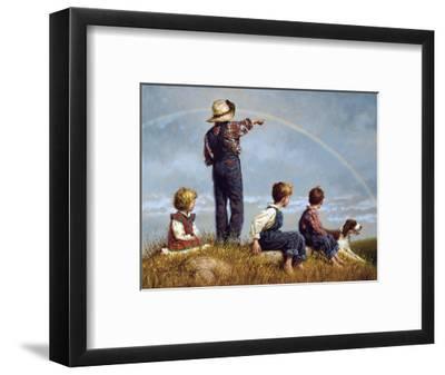 Follow the Rainbow-Jim Daly-Framed Art Print