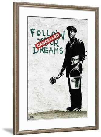 Follow Your Dreams-Banksy-Framed Art Print