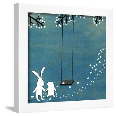 Follow Your Heart- Let's Swing-Kristiana P?rn-Framed Art Print