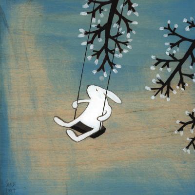 Follow Your Heart- Swinging Quietly-Kristiana P?rn-Art Print