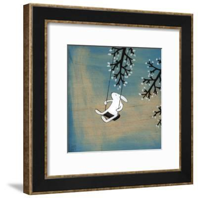 Follow Your Heart- Swinging Quietly-Kristiana Pärn-Framed Art Print