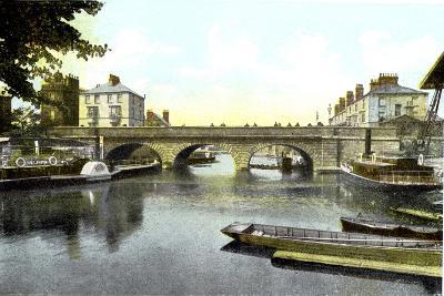 Folly Bridge, Oxford, 20th Century--Giclee Print