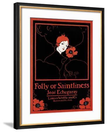 Folly or Saintliness-Ethel Reed-Framed Art Print