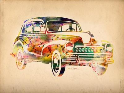 Folsfagen Car 2-Mark Ashkenazi-Giclee Print