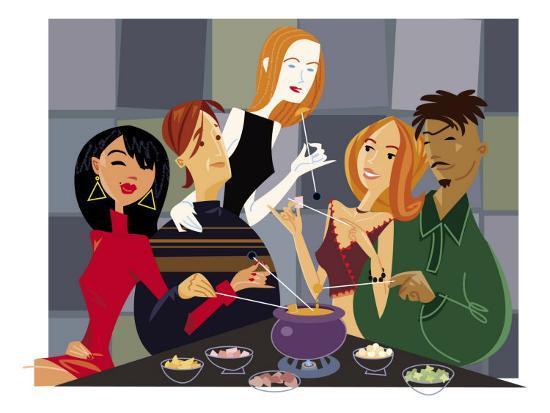 Fondue Party--Art Print
