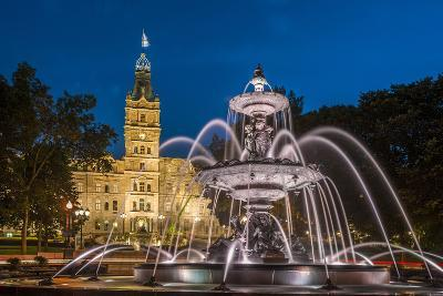 Fontaine de Tourny, Quebec City, Province of Quebec, Canada, North America-Michael Snell-Photographic Print