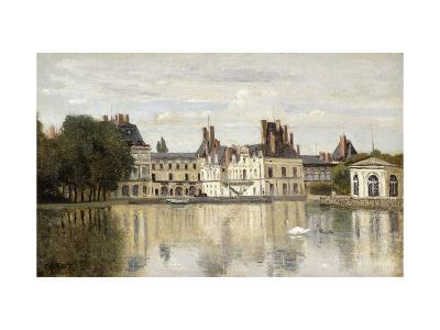 Fontainebleau - View of the Chateau and Lake-Jean-Baptiste-Camille Corot-Giclee Print