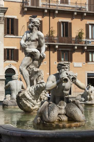 Fontana Del Moro, by Bernini, Piazza Navona, Rome, Lazio, Italy-James Emmerson-Photographic Print