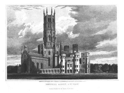 "Fonthill Abbey from the South-West, from ""Graphic and Literary Illustrations of Fonthill Abbey""-George Cattermole-Giclee Print"