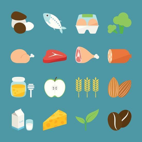 Food Icons-kibsri-Art Print