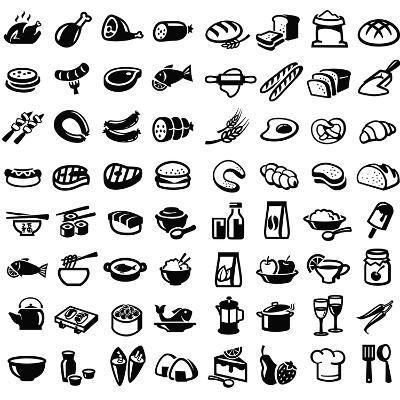 Food Icons-bioraven-Art Print