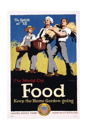 Food - Keep the Home Garden Going Poster-William McKee-Giclee Print