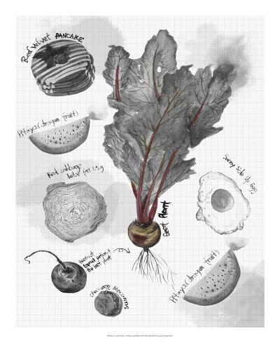 Food Sketches in Black and White II-Julie Silver-Giclee Print