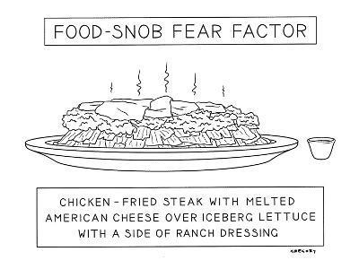 Food Snob Fear Factor - New Yorker Cartoon-Alex Gregory-Premium Giclee Print