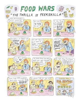 "Food Wars: ""Thrilla in Peekskilla"" - New Yorker Cartoon-Roz Chast-Premium Giclee Print"
