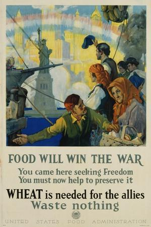 Food Will Win the War Poster-Charles Edward Chambers-Photographic Print