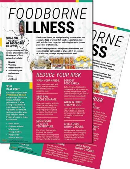 Foodborne Illness Posters--Laminated Poster